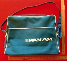 Vintage 1960's Pan Am Airlines Carry On Travel Flight Bag