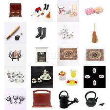 DollHouse Wood Metal Resin Furniture Miniatures Set Collectors Pretend Play Toys