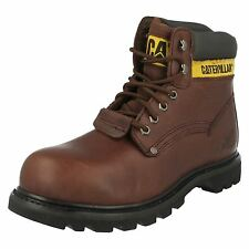 Mens Caterpillar Sheffield ST Moondance Brown Leather Steel Toe Cap Work Boots