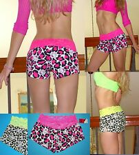 NWT Sanrio Hello Kitty WILD CAT WIDE Lace waistband Shorts<S,M,L,XL, 2colors
