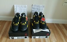 NIKE AIR JORDAN RETRO 4 THUNDER 2012 SIZE 11,12 WHITECEMENT4,FIRERED4,CAVS4
