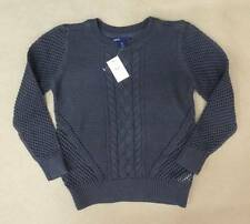 NWT GapKids Girls Charcoal Cableknit Sweater Size M (8-9) & L (10)