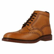 MENS LOAKE BOOTS BURFORD 2 LEATHER UPPER COLOUR TAN FITTING F LACE UP BROUGE
