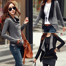 Fashion Women's Stylish Slim Fit Jackets Casual Zipper Front Coat Tops Outerwear