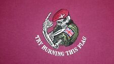 PARACHUTE REGIMENT TRY BURNING THIS FLAG HOODIE
