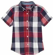 NWT Gymboree Boys Home Run Kid Plaid Shirt Size 12-18 M S (5-6) & M (7-8)
