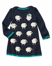 NWT Gymboree Girls Sweater Weather Sheep Sweater Dress Size 12-18-24 M 2T 3T 4T