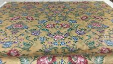 Corinna 5PC Daybed Set - Bedskirt Pillow shams Fitted sheet - Gold Pink Flowers