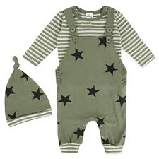 Baby Boy Two-pieces Romper with Hat Stripe Funny Infant Onesie 0-18 Months