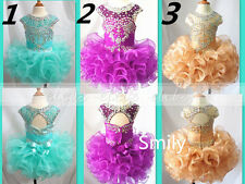 2016 Infant/Toddler/Baby/Children/kids Mini Gowns Girl's Cupcake Pageant Dress