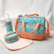 New Women Handbag Mommy Messenger Bag Shouder Bags 4PCS Diaper Bags Waterproof