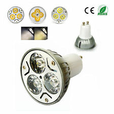 GU10 Cool Warm White 3X1W High Power LED Lamp Light Bulb 3W 85V-265V