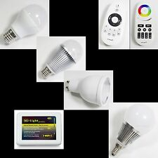 WiFi 2.4G RF Phone Remote Control MiLight 4Zone 4-9W GU10 RGBW RGB LED Bulb Lamp