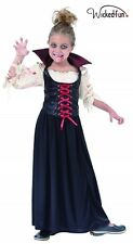 Girls Countess BloodThirst Halloween Fancy Dress Costume Vampire Dracula Kids