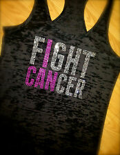 Breast Cancer Awareness Shirt. I CAN FIGHT CANCER Burnout Tank Top Fitness shirt