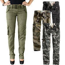 Surplus Ladies' Premium Trousers Slimmy Ladies Cargo camo Trousers Vintage 3588