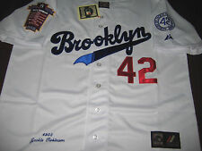 Brooklyn Dodgers Throwback #42 Jackie Robinson Majestic cooperstown Jersey white