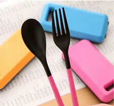 Hot for Travel Tableware Set Spoon Fork Chopsticks Portable Plastic Cutlery