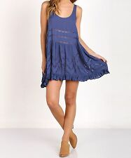 Free People Clothing Voile & Lace Trapeze Slip Waterfall Combo