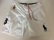 Ralph Lauren Polo Men's Swimming Shorts, White, Size 34, XL, immaculate