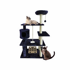 "55"" Deluxe Cat House Condo Cat Tree Scratchers Post Toys Scratch Pet Furniture"