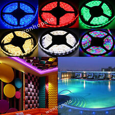 5M 300LED SMD 3528 /5050 /5630 RGB /White Flexible Strip Light Decor String Lamp