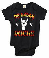My Daddy Rocks One-piece Baby Bodysuit Cute Baby Clothes for Boys and Girls