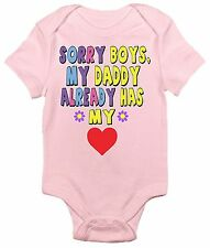 Sorry Boys, My Daddy Already Has My Heart One-piece Baby Bodysuit Baby Clothes