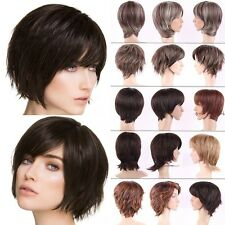 New Fashion Short Wig Sexy Ladies Boycut Synthetic Hair Full Head Wigs Two Tone