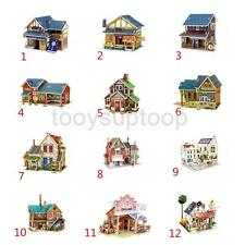 DIY Model Wooden 3D Puzzle Jigsaw Child Educational Toy Teahouse Shop Dwelling