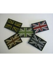 UNION JACK PATCHES IN VARIOUS COLOURS WITH HOOK & LOOP BACKING