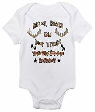 Rifles Racks and Deer Tracks One-piece Baby Bodysuit Cute Baby Clothes