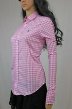Ralph Lauren Pink and White Checked Long Sleeve Button Down Purple Pony ~NWT~