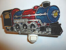 "STAINED GLASS STYLE ""locomotive  ""  NIGHT LIGHT"