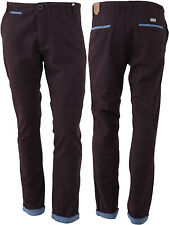Mens Chino Jeans Pants Straight Leg Regular Fit Trousers Bottoms Casual New