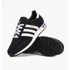 [Adidas] Originals Men LA Trainer Running Fitness Black/White Shoes (AF6290)