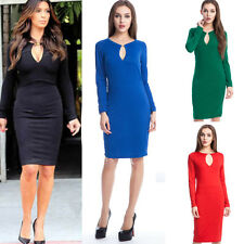Women's Bandage Bodycon Hollowed Cocktail Evening Party Sexy Slim Dress XS-L