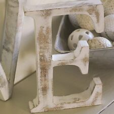 Shabby Chic  Large Whitewash Wood Block Freestanding A-Z Alphabet Letters