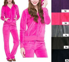 Basic VELOUR TRACKSUIT Zip Hoodie Jacket and Flare Pants Set Sz S - XL