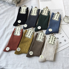 10Pairs Lot Women 90%Wool Cashmere Casual Dress Solid Thick Warm Knit Boot Socks