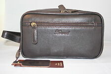 Leather Tolietries Bag Available in Dark Brown Full Grain Cow Hide