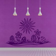Easter Eggs And Flowers Seasonal Flowers And Trees Wall Stickers Home Art Decals