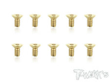 T-Work's M4 Gold Plated Hex Countersink Screw ( Class 10.9 )
