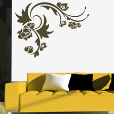 Floral Rose Embellishment Floral Design Wall Stickers Home Decor Art Decals