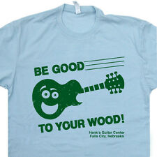 Guitar Center T SHIRT Be Good To Your Wood gibson vintage Banjo Folk Acoustic T