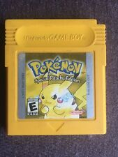 Pokemon Yellow Version Pikachu Game Boy Color Working Save Battery