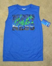 NWT Boys CHAMPION Witness Greatness Silky Blue Sleeveless Shirt - size S