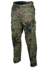 MIL-TEC US BDU STYLE GERMAN FLECKTARN CAMO TACTICAL RANGER COMBAT FIELD TROUSERS