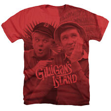 GILLIGAN'S ISLAND GILLIGAN AND THE SKIPPER SUBLIMATION MENS T SHIRT SM TO 2XL