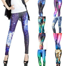 Women's Sexy Graphic Printed Pattern Stretch Elastic Punk Leggings Tight Pants